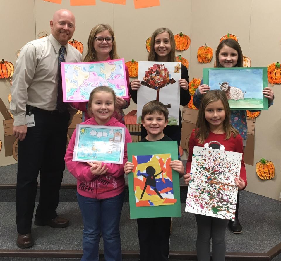 Students their work selected by Mr. McMillen